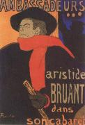 Aristide Bruant in his Cabaret Henri de toulouse-lautrec